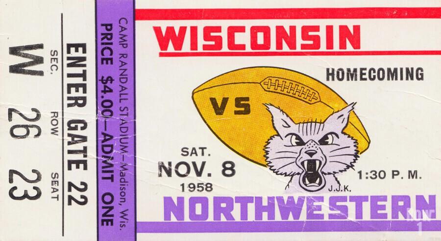 1958 Wisconsin vs. Northwestern  Print