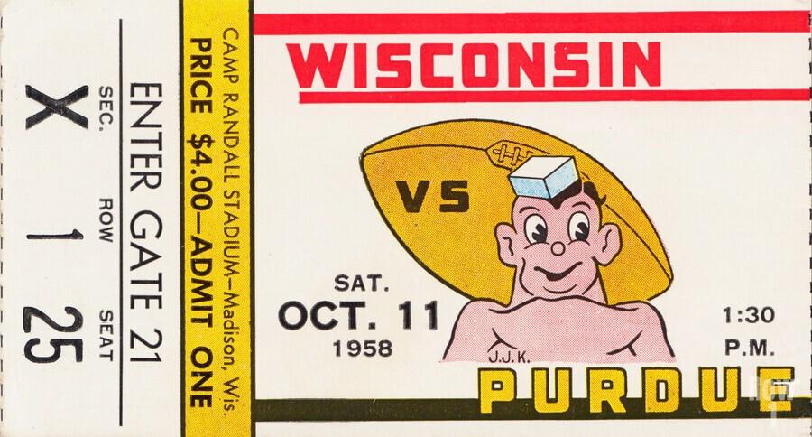1958 Wisconsin vs. Purdue  Print