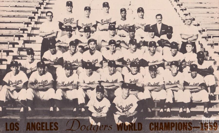1959 Los Angeles Dodgers Team Photo  Print
