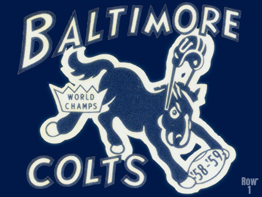 1959_National Football League_Baltimore Colts_World Champions_Row One  Print