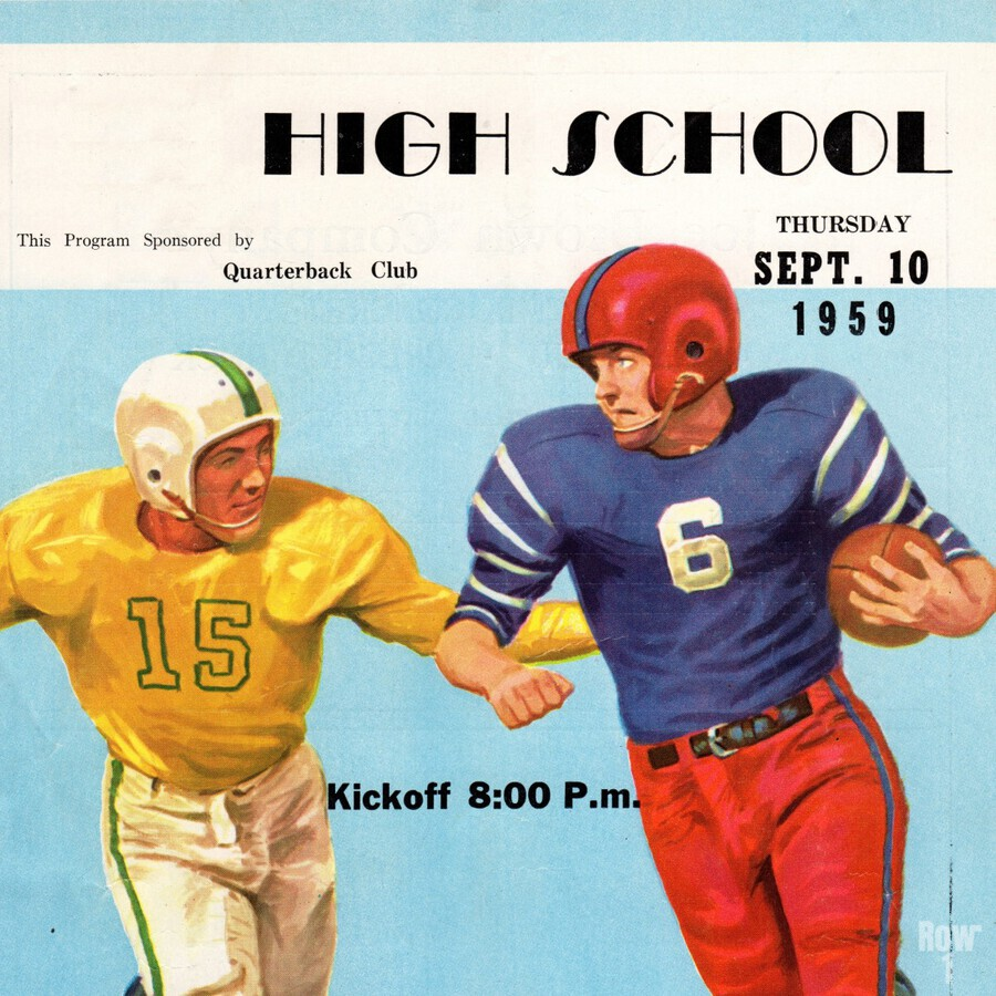 1959 High School Football  Print