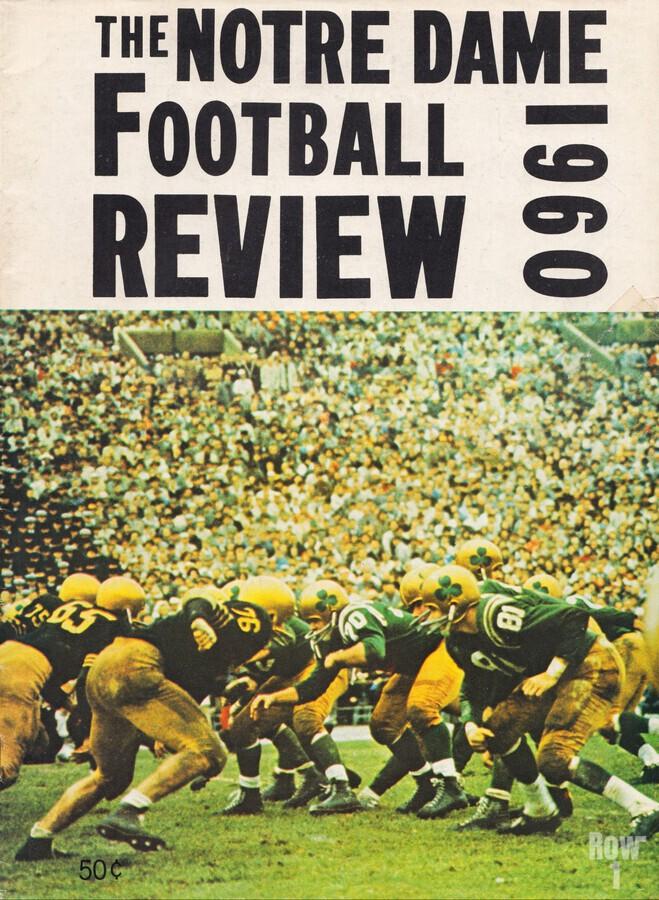 1960 notre dame football  Print