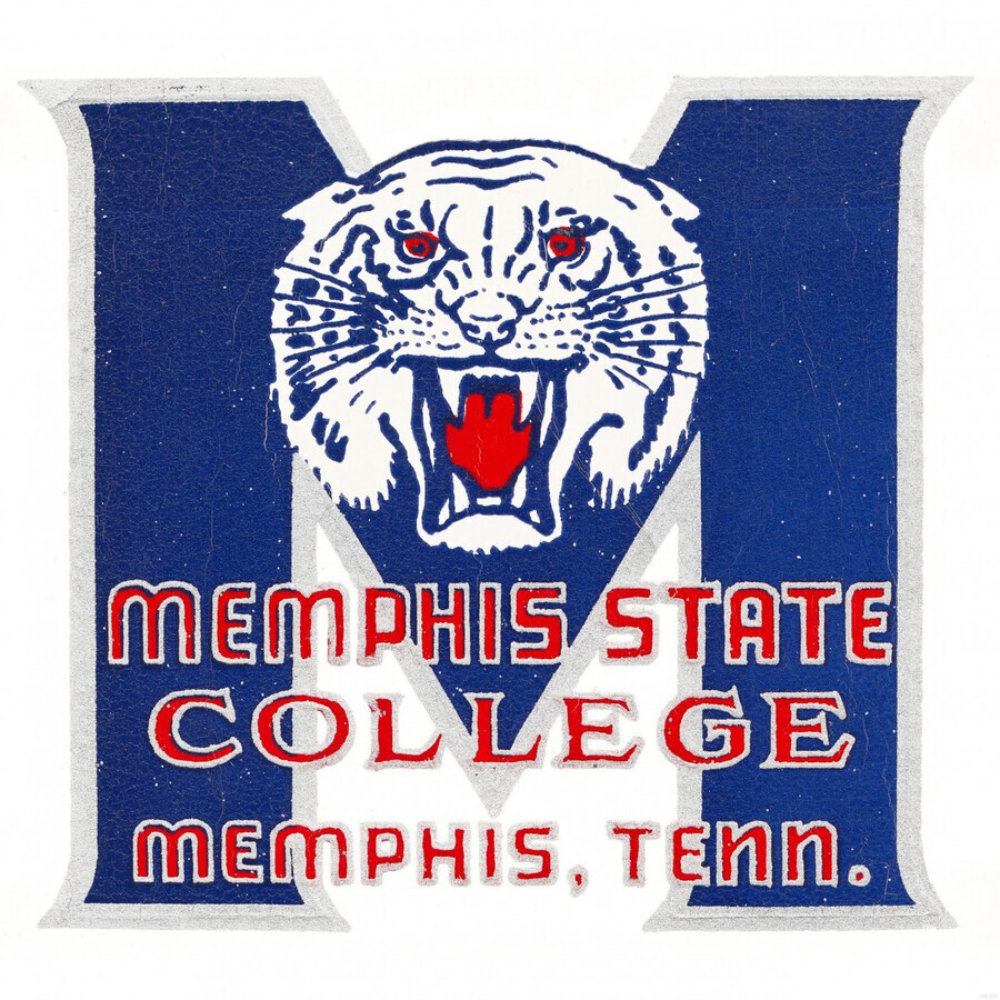 1950s Memphis State College Tigers  Print