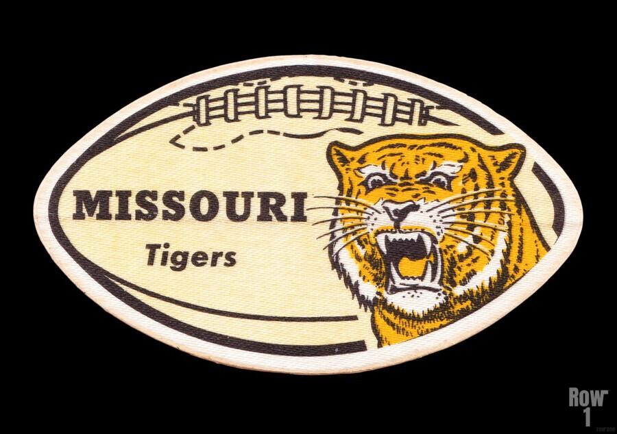 1965 Missouri Tiger Football Art  Print