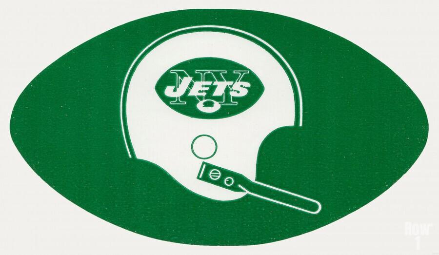 1960s new york jets helmet wall art  Print