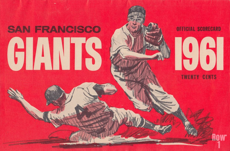 1961 San Francisco Giants Scorecard_Bay Area Home Decor Ideas  Print