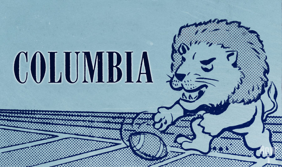 1961 Columbia Lions Football Ticket Stub Remix Art  Print