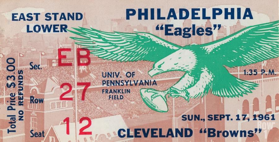 1961 Philadelphia Eagles vs. Cleveland Browns   Print