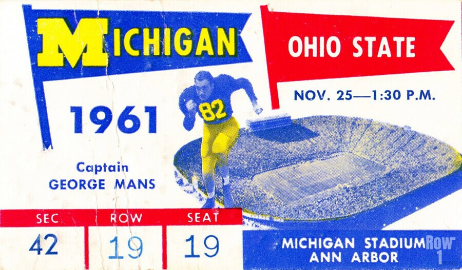 1961_College_Football_Ohio State vs. Michigan_Michigan Stadium_Ann Arbor_Row One Brand  Print