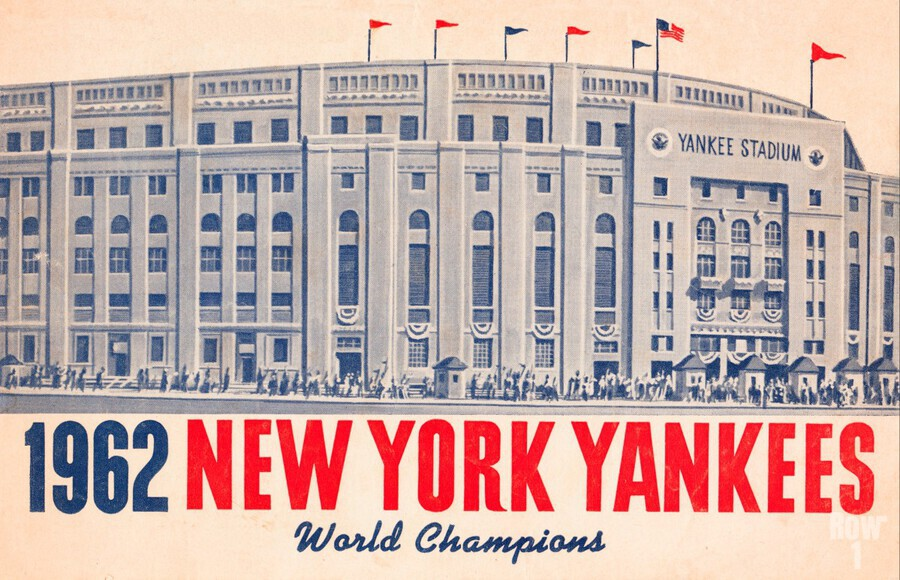 1962 new york yankees world champions  Print