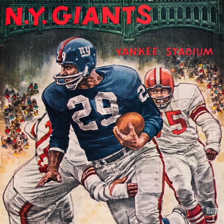 1962 Robert Riger New York Giants Art  Print