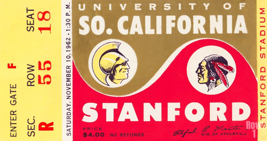 1962 Stanford Indians vs. USC Trojans  Print