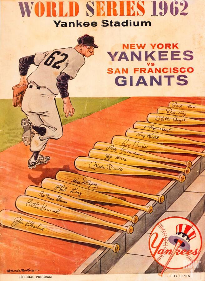 1962 Yankees World Series Program  Print
