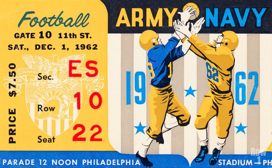 1962_Vintage College Football_Army vs. Navy_Municipal Stadium_  Print