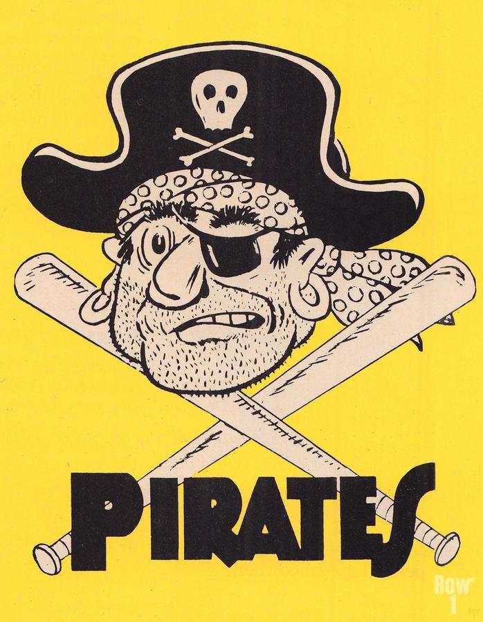 Vintage Sixties Pittsburgh Pirates Art  Print