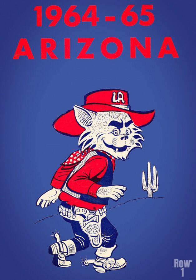 1964 Arizona Wildcat Art  Print