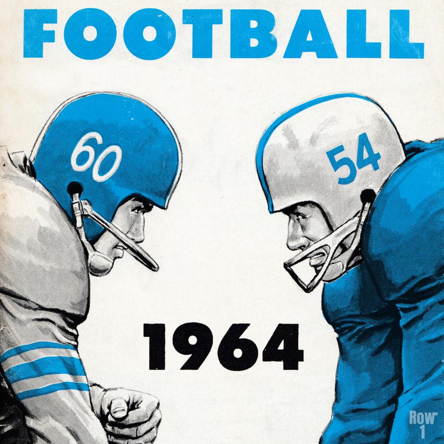1964 Linemen Football Art  Print