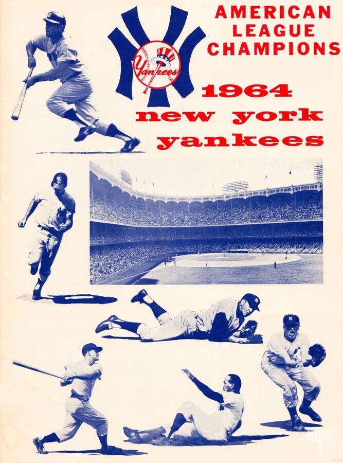 1964 new york yankees american league champions poster  Print