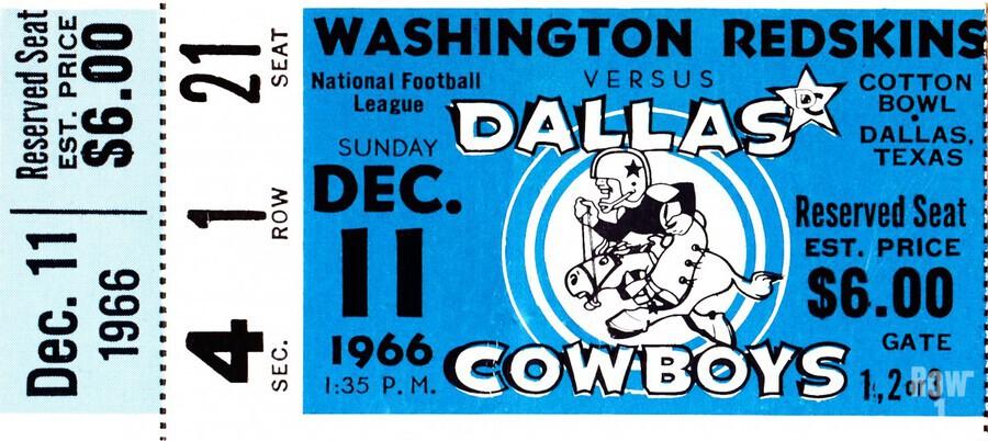 1966 Washington vs. Dallas  Print