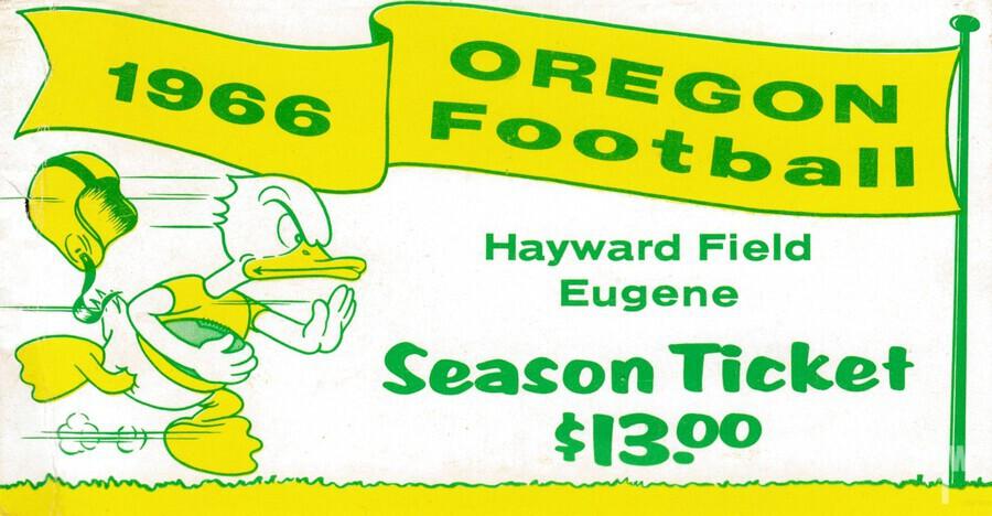 1966 Oregon Duck Season Ticket  Print
