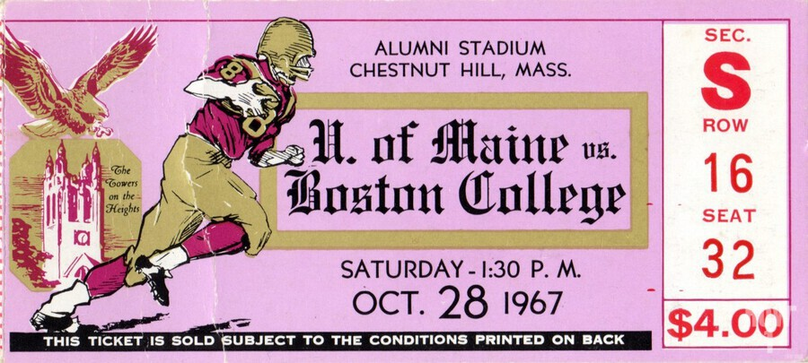 1967 Maine vs. Boston College  Print
