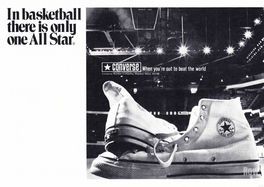 1968 converse all star shoe ad reproduction wall art  Print