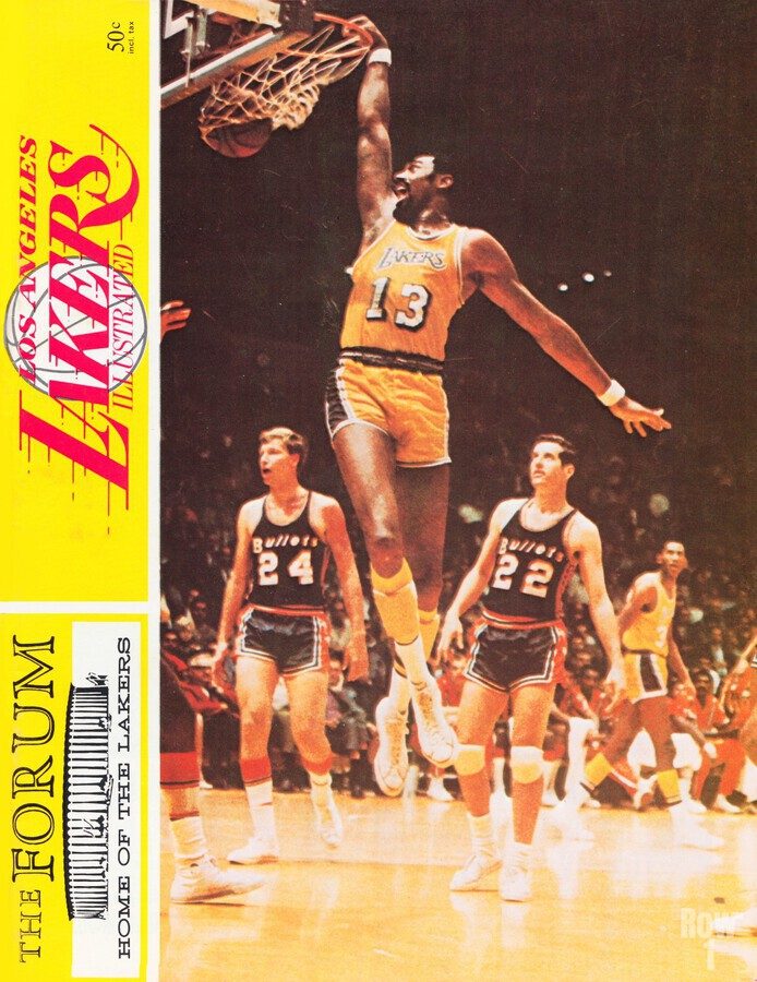 1968 la lakers basketball poster wilt chamberlain dunk photo  Print