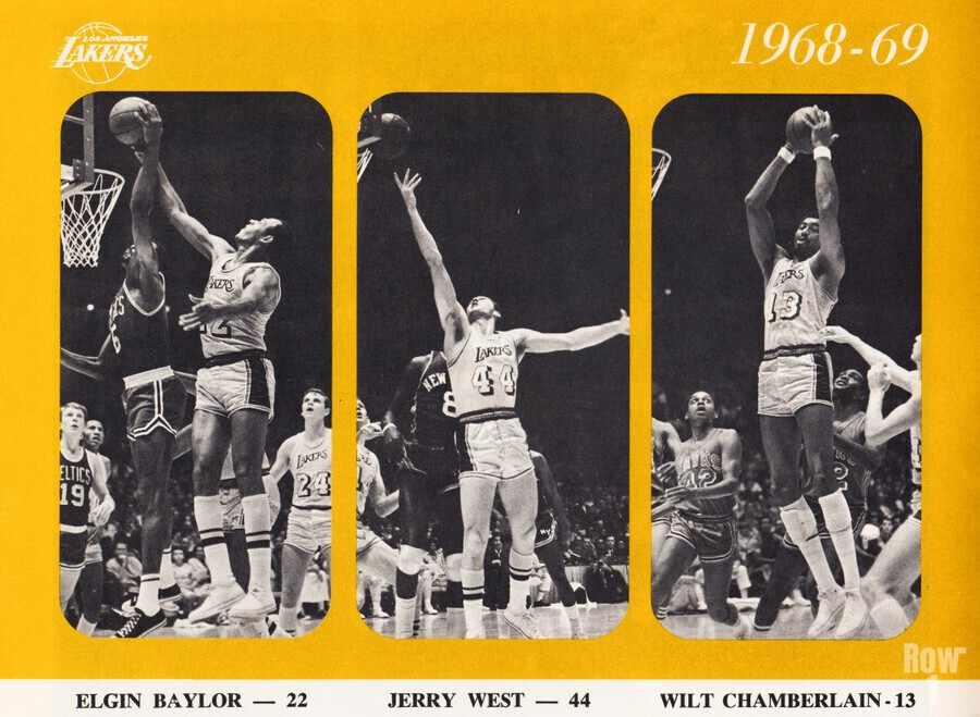 1968 los angeles lakers poster  Print