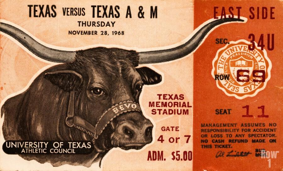 1968 Texas vs. Texas A&M  Print