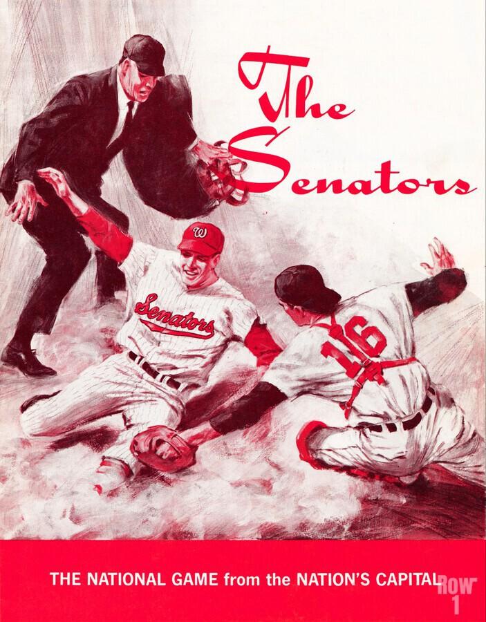 1968 washington senators baseball art  Print
