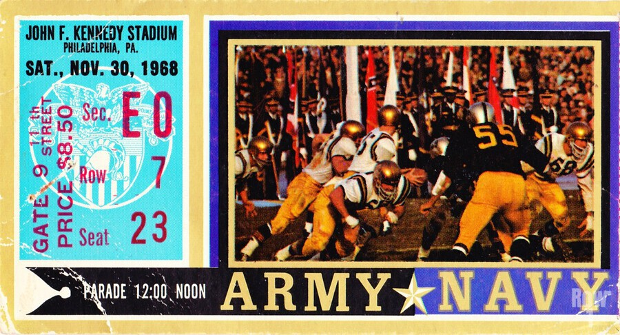 1968_College_Football_Army vs. Navy_John F. Kennedy Stadium_Philadelphia_Row One Brand  Print