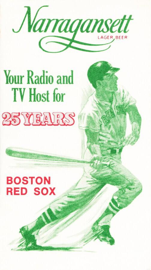1969 Narragansett Beer Red Sox Ad  Print