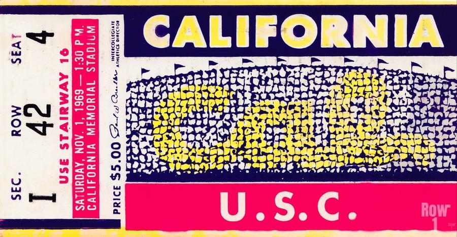 1969 Cal Bears vs. USC Trojans  Print