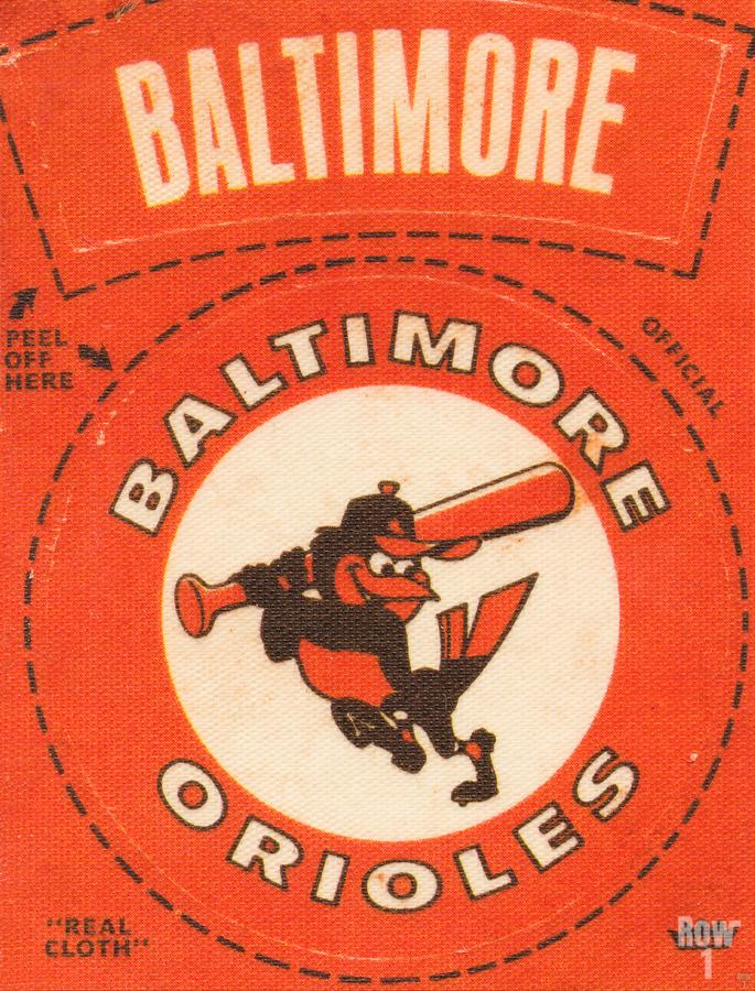 1969 Baltimore Orioles Fleer Cloth Patch Art | Row 1  Print