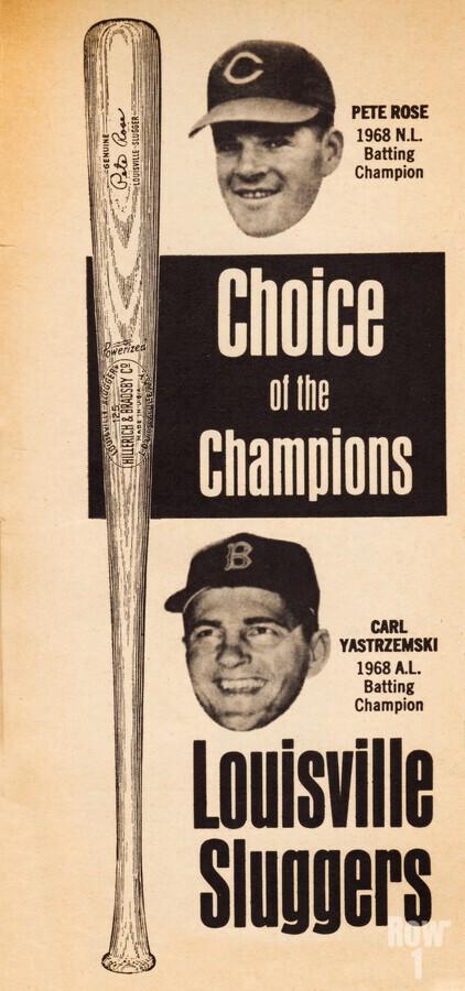 1969 Louisville Slugger Pete Rose Ad  Print