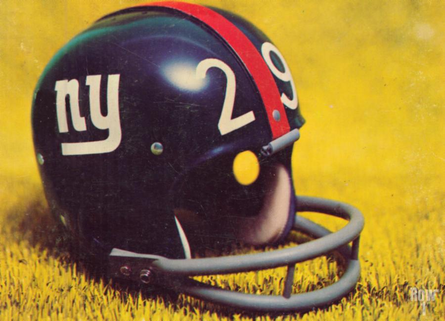 1969 New York Giants Vintage Football Helmet Photo Art  Print