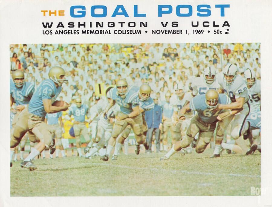 1969 UCLA vs. Washington Football Program Cover Art  Print