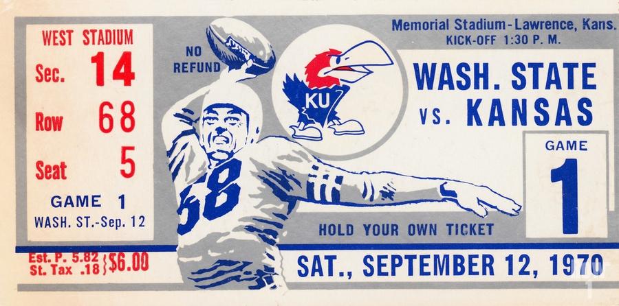 1970 Kansas Jayhawks vs. Washington State Cougars  Print