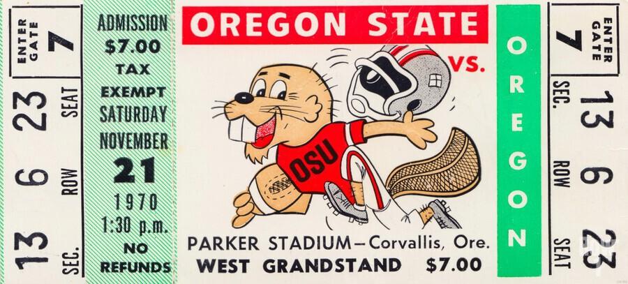 1970 Oregon State vs. Oregon  Print