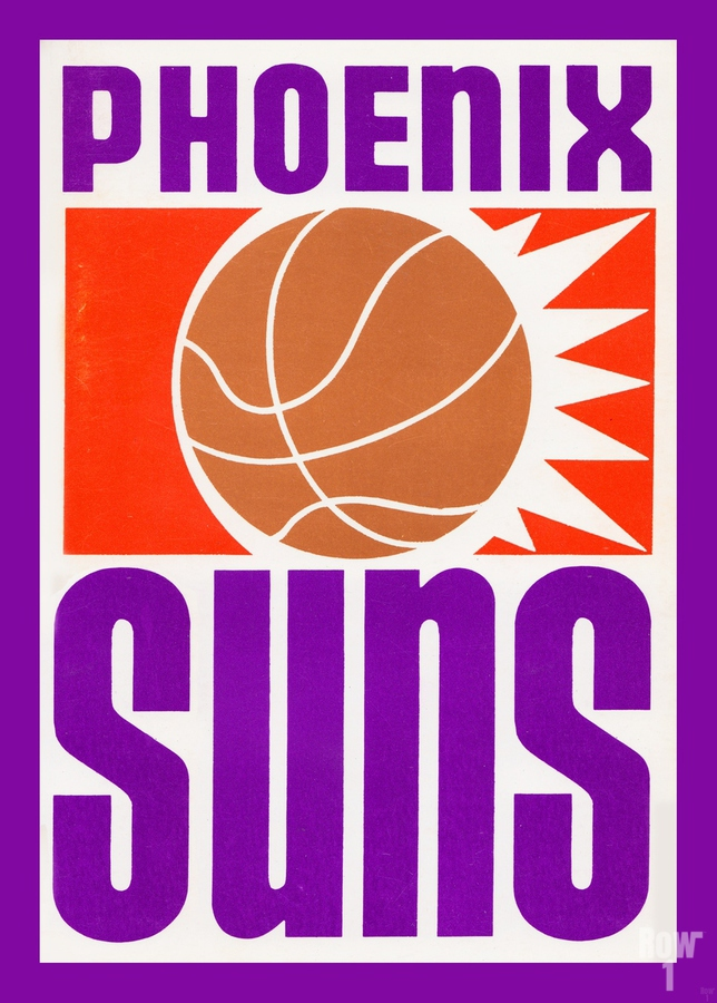 1970 Phoenix Suns Basketball Art  Print