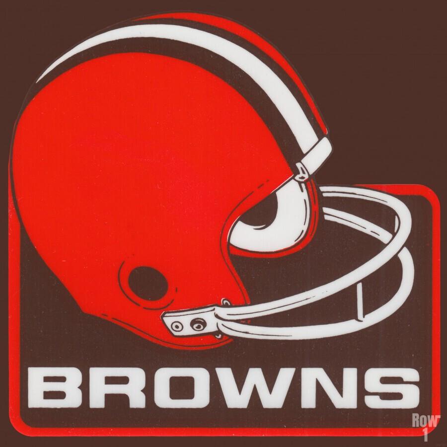Retro Cleveland Browns Helmet Art  Print