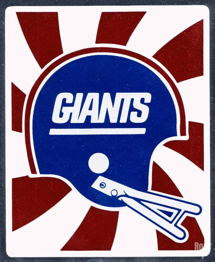 Retro New York Giants Helmet Art  Print