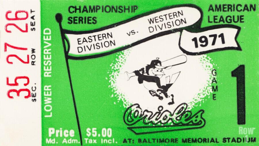 1971 Baltimore Orioles American League Championship  Print