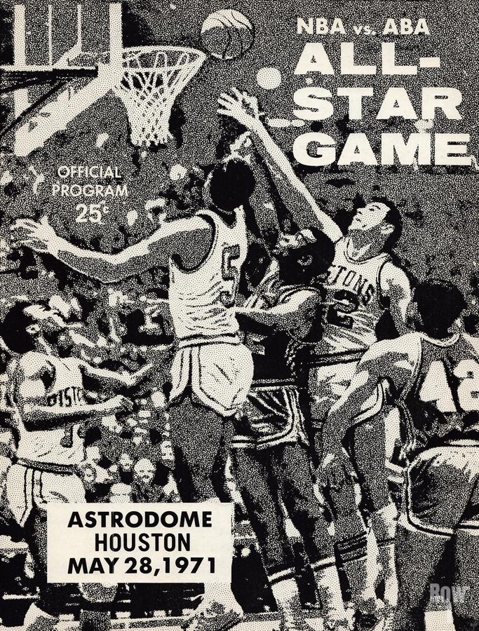 1971 NBA vs. ABA All-Star Game Program Art  Print
