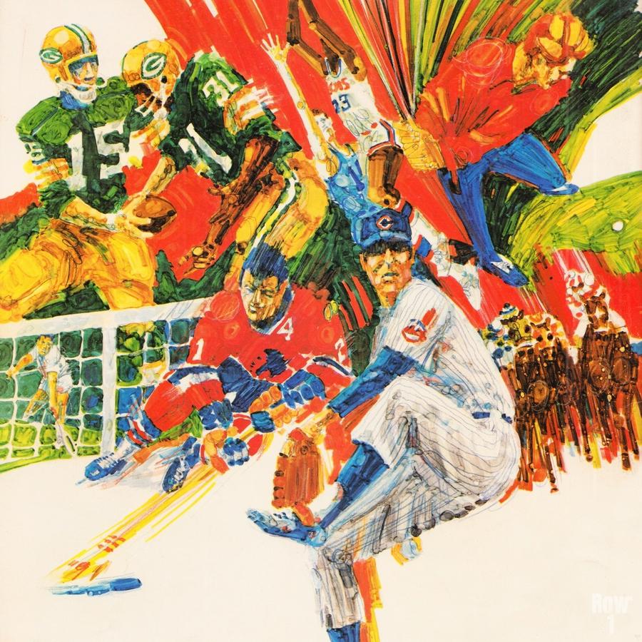 1971 Retro Sports Art  Print