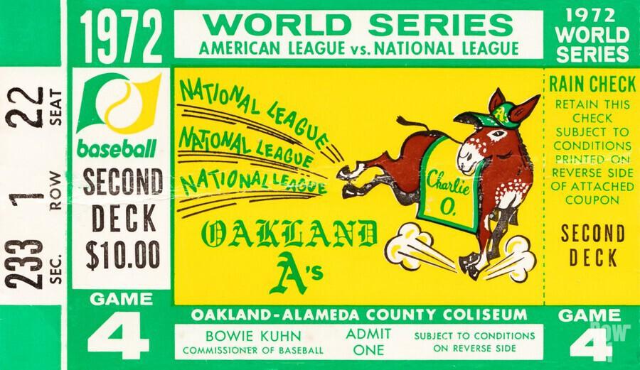 1972 world series oakland athletics  Print