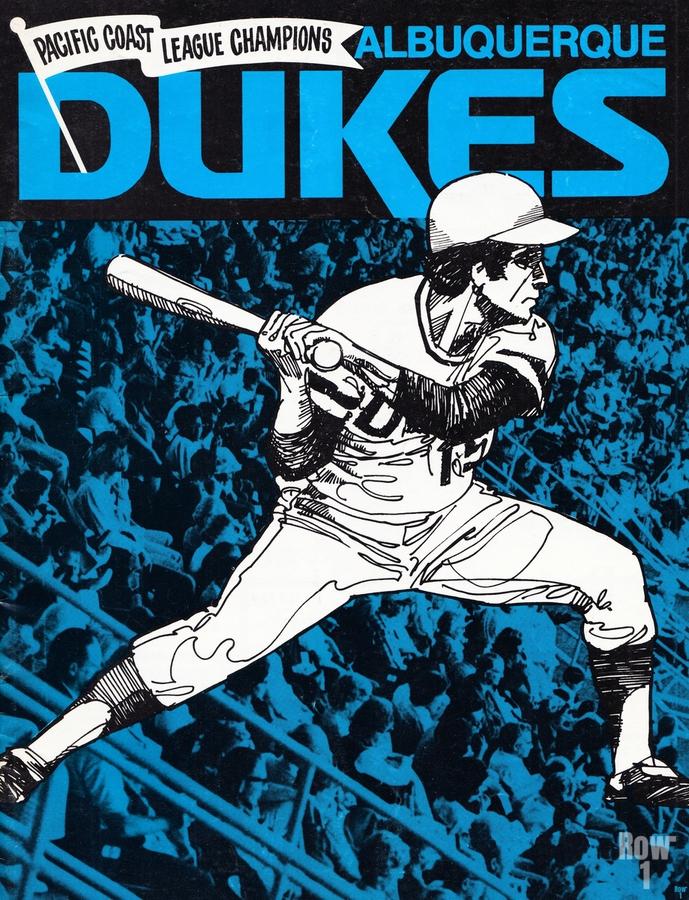 1973 Albuquerque Dukes Baseball  Poster  Print