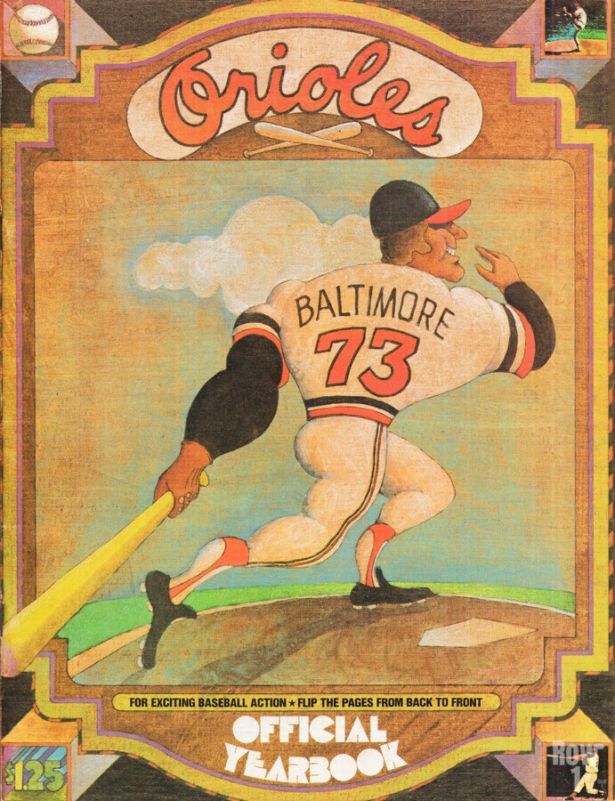 1973 Baltimore Orioles Yearbook Poster  Print