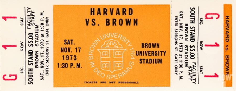 1973 Brown Bears vs. Harvard Crimson  Print
