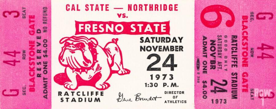 1973 cal state northridge fresno state bulldogs  Print
